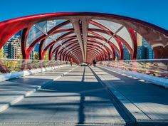 "Melissa Hogan took a Sunday Snap on the Peace Bridge in Calgary, AB and posted it on her blog ""Suitcase & Heels""."