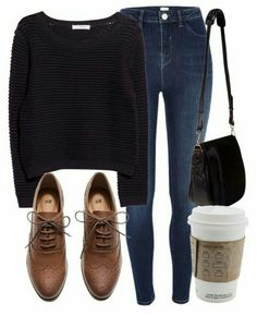 date outfit fall casual Mode Outfits, Casual Outfits, Fashion Outfits, Womens Fashion, Hipster Outfits, School Outfits, Mode Chic, Mode Style, Outfit Pinterest