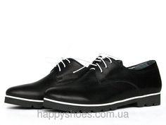 """Черные женские туфли - оксфорды на рифленой подошве: продажа, цена в Запорожье. туфли женские от """"HappyShoes"""" - 243897670"""