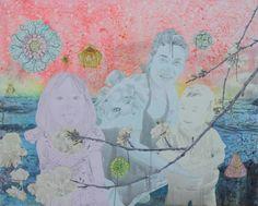 Présence du Japon, Marc Molk, 2010, huile et acrylique sur toile, 130 x 162 cm