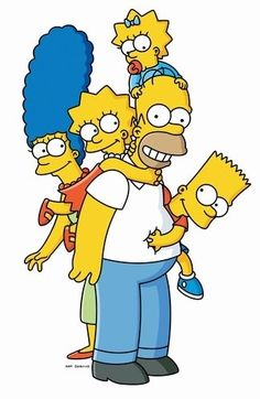 Homer, Marge, Bart, Lisa, and Maggie Simpson