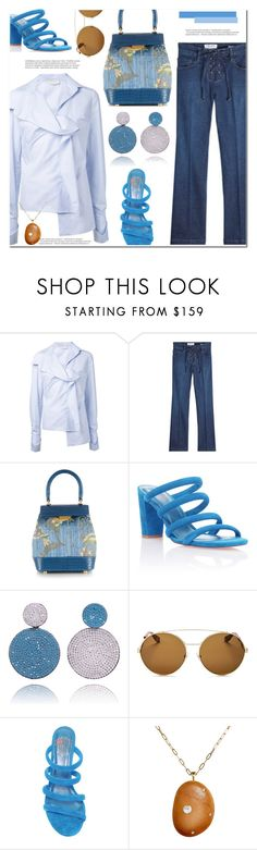 """...So blue!"" by marialibra ❤ liked on Polyvore featuring Monse, Frame, Rubeus, Balmain, Givenchy and CVC Stones"