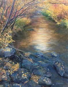 Color of Water - Pastel on Sanded Board
