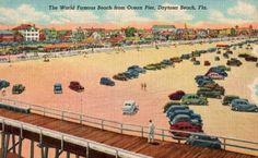 Vintage Florida Postcard  The World Famous Beach by VintagePlum