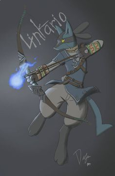 pokemon/legend of zelda by Delfin18 - Linkario | #Link #Lucario #Pokemon