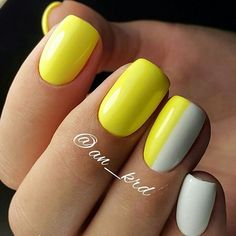 Summer Colors Fun. Make your nails pop with the forever beautiful combo – white and yellow and make your nails flow with the summer fun.