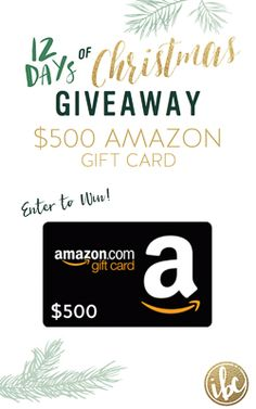 It's the 12 Days of Christmas! ENTER TO WIN a $500 AMAZON gift card via @inspiredbycharm #IBCholiday