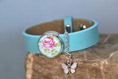 """Armbänder - Lederarmband """"Blumenwiese"""" - ein Designerstück von DaiSign bei DaWanda"""