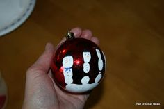 Full of Great Ideas: Five fingers/ Handprint snowman ornament