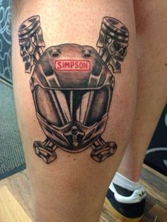 Motocross helmet and skull pistons Racing Tattoos, Bike Tattoos, Motorcycle Tattoos, Forearm Tattoos, Great Tattoos, Tattoos For Guys, Motocross Tattoo, Piston Tattoo, Flesh Tattoo