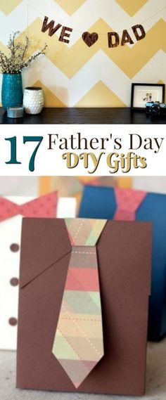 Father's Day is right around the corner. I thought today I would share with you 17 Fathers day DIY gifts! You're going to love these ideas and so will your dad! #fathersday #fathersdaycrafts #fathersdaygift #fathersdaygiftideas #giftideas #giftideasforhim #craftsfordad #fathercrafts Diy Projects For Teens, Diy For Teens, Crafts For Teens, Crafts To Do, Craft Projects, Craft Ideas, Diy Father's Day Gifts Easy, Father's Day Diy, Fathers Day Gifts