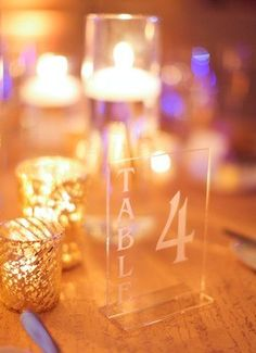 Love these table markers! Photo credit: @audreysnowphoto