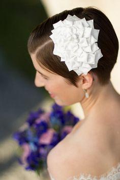 Fantastisk hårpynt på bruden