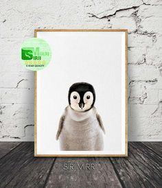 Penguin Print Penguin Wall Art Nursery Wall Art Decor Black