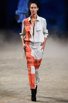 A.F. Vandevorst Spring 2015 Ready-to-Wear Fashion Show  An Vandevorst and Filip Arickx had come up with a story, about a female pilot flying around the world who parachutes into terra incognita and begins exploring.