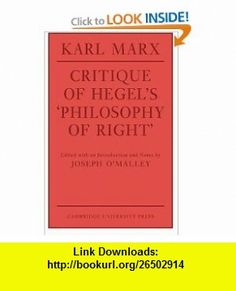 Critique of Hegels Philosophy Of Right (Cambridge Studies in the History and Theory of Politics) (9780521292115) Karl Marx, Joseph OMalley, Annette Jolin , ISBN-10: 0521292115  , ISBN-13: 978-0521292115 ,  , tutorials , pdf , ebook , torrent , downloads , rapidshare , filesonic , hotfile , megaupload , fileserve