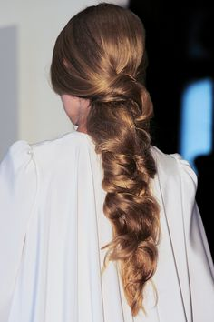 Try these not-so-basic braids from @Stylecaster | loose low braid on thick hair