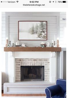 70s Fixer Upper Brick Fireplace Makeover - Before and After ...