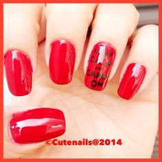 Keep calm and carry on nails