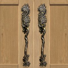 Vine Entry Thumb Latch Decorative Door Knobs, Art Nouveau Interior, Cabinet  Drawers, Interior