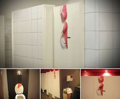 10 Creative Bathroom Ads - Oddee.com (bathroom advertising) #interesting use of existing space