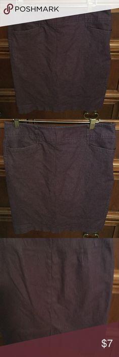 Chambray Skirt Chambray purple skirt Dress Barn Skirts Midi