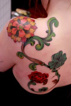 victorian flowers by Madame Tattoo