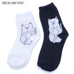 Women Men Spring Cartoon Cat Socks Alien Planet  Art Funny Cotton socks. Yesterday's price: US $1.52 (1.26 EUR). Today's price: US $1.41 (1.17 EUR). Discount: 7%.