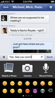 Facebook updates iOS app with voice-mail, video and recommendations