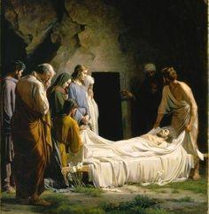 "signum-crucis:  "" The Burial of Christ  Carl Heinrich Bloch, 1873  """