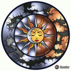Sun Moon Stars, Sun And Stars, Moon Sun Tattoo, You Are My Moon, Sun Painting, Glass Art Pictures, Sun Art, Hippie Art, Painted Rocks