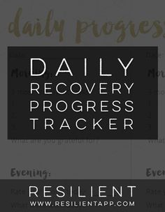 Daily Recovery Progress Tracker for Depression and Anxiety