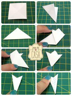 Paper snowflake / floco de neve de papel Useful Origami, Quilling, Diy, Activities, Christmas Ornaments, Creative, Cards, Magic, Facebook