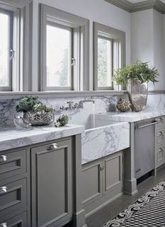 dark grey with marble