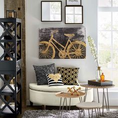 When you want to add a modern look your home, we have the design inspiration to get you started with these modern decorating ideas. Fabric Textures, Textures Patterns, Geometric Patterns, Accent Pillows, Throw Pillows, Modern Decor, Design Inspiration, Living Room, Bed