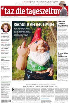 #20160203 #Germany #DeutschZEITUNGenHEUTE #TazDieTageszeitum Mittwoch 3 FEB 2016 http://en.kiosko.net/de/2016-02-03/np/tageszeitung.html