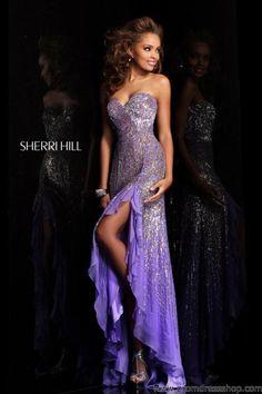sherri hill prom dress i hate purple but i love this dress