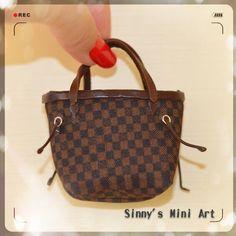 Miniature Doll handbag/Doll purse/ Luxery for Dolls/ Barbie Doll luxury handbag/ Barbie purse/ Doll Fashion