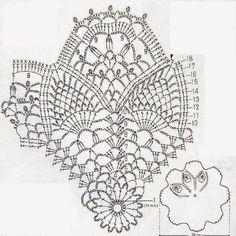 U Kathryn : Szydełkowa serwetka-wzór/Crochet doily-pattern Free Crochet Doily Patterns, Crochet Circles, Crochet Chart, Thread Crochet, Crochet Motif, Crochet Doilies, Crochet Stitches, Knit Crochet, Borboleta Crochet