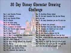 30 Day Disney Character Drawing Challenge by eraport6.deviantart.com on @deviantART