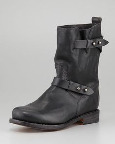 Moto Leather Boot, Black by Rag  amp  Bone at Neiman Marcus. Black Biker 1cd3a5368409