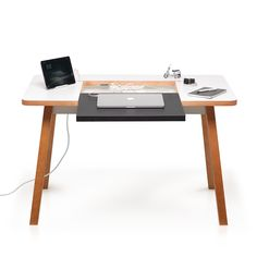 Studio Desk from Bluelounge is a compact, modern desk in timeless design with cable management 📝💻 For your office or home? #bluelounge #lifestylestorese #studiodesk #pracitical #design #premuimquality #timeless #cablefree #office #interior #desk #home h