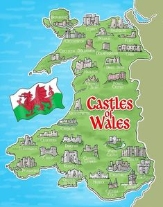 Welsh Castles, Castles In Wales, Wales Castle, World Map Europe, Learn Welsh, Aberystwyth, England And Scotland, Travel Goals, British Isles