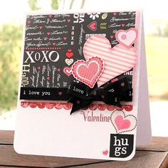 ADORNit Pattern Paper- Happy Hearts Card