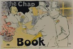 """The Chap Book"" by Henri de Toulouse-Lautrec Lithograph for sale $425  #lithography #art #printmaking #thechapbook #toulouselautrec #vintage #antique #artnouveau #artdeco"