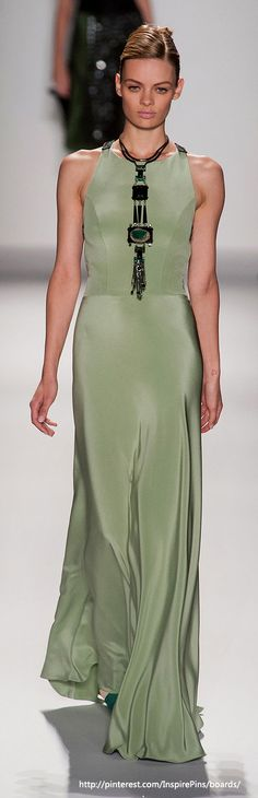 Gorgeous, but without the necklace it might be pretty blah...Carolina Herrera - New York Spring 2014