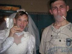 Redneck Wedding Picture.