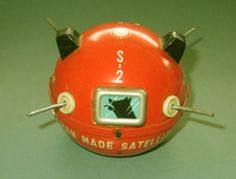 Laika the astro-dog tin toy, 1958