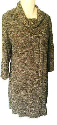 Lane Bryant Sweater Dress Size 26 26 4x Brown Cowl Neck #LaneBryant #SweaterDress #WeartoWork