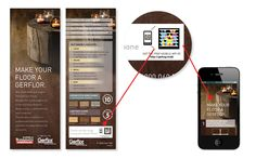 Here's an example of how a QR coded flyer, hanging in a hardware store, can link a prospective purchaser to a an online imagery profiling flooring product in an actual home environment. QR codes can be used to enhance packaging and point of sale display and to help shoppers make informed and immediate purchasing decisions. SAM integrate QR codes into advertising and promotional material wherever possible to engage consumers and increase sales.